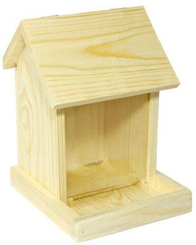 Krmítko venkovní dřevo - zásobník Cidlina 17 x 18,5 x 24 cm