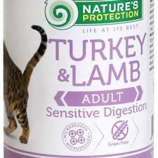 Nature's Protection Cat konz.Sensitive krůta/jehně 400 g