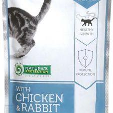 Nature's Protection Cat kaps. Kitten Chicken&Rabbit 100g