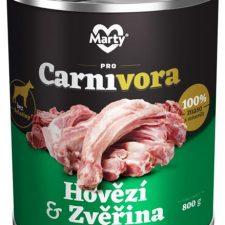 MARTY konz. pro psy ProCarnivora-zvěř+hovězí 800 g