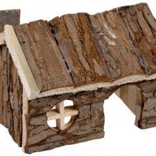Domek dřevo přírodní srub Duvo+15x11x12cm