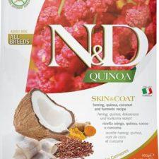 N&D Grain Free Dog Adult Quinoa Skin&Coat Herring & Coconut 800 g