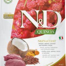 N&D Grain Free Dog Adult Quinoa Skin&Coat Venison & Coconut 800 g