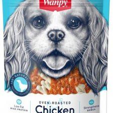 Wanpy Dog Chicken Jerky & Calcium Bone Twists 100 g