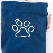 Kapsa na pytlíky suchý zip výšivka tlapky modrá