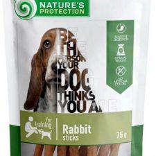Nature's Protection Dog snack králičí tyčinky 75 g