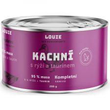 Louie konz. pro kočky kachní s rýží a taurin 200g