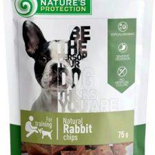 Nature's Protection Dog snack králičí čipsy 75 g