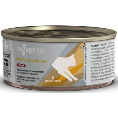 Trovet Feline ASD Urinary Struvite konzerva beef 100 g