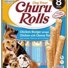 Churu Dog Rolls Chicken with Cheese wraps 8x12g